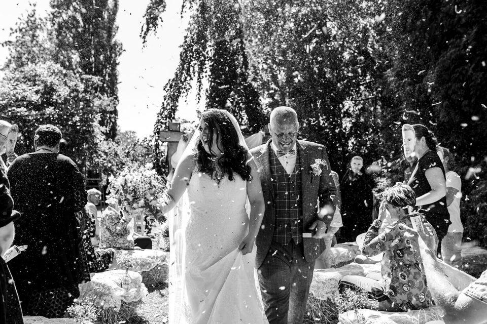 spontane trouwfoto